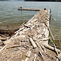 A Dock Covered With Driftwood by Woods Wheatcroft