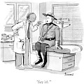 A Doctor Inspects A Royal Canadian Mounted by Benjamin Schwartz