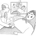 A Doctor Is Seen Giving An Sonogram To A Russian by Paul Noth