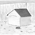 A Dog House With No Doors Is Seen With The Sign by Danny Shanahan