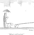 A Dog On A Very Long Leash Explains To Another by Ken Krimstein