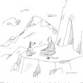 A Dog Speaks To A Guru On Top Of A Mountain by Michael Maslin
