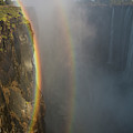 A Double Rainbow At Victoria Falls by Alexandra Simone