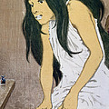 A Drug Addict Injecting Herself by Eugene Grasset
