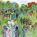 A Equestrian Scene by Raoul Dufy