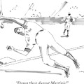 A Falling Baseball Player Fails To Catch A Ball by Michael Crawford