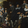 A Family Group In A Landscape by Frans Hals