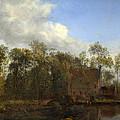 A Farm Among Trees by Jan van der Heyden