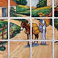 A Farm Scene On Plaza Tiles by Cassie Peters