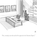 A Father In A Nice Office Looking Out The Window by Paul Noth