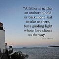A Father Is Lighthouse Quote by Terry DeLuco