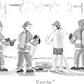 A Fireman In His Boxers Talks To His Colleagues by Charlie Hankin