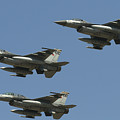 A Formation Of Turkish Air Force F-16cd by Daniele Faccioli