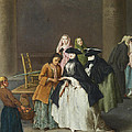 A Fortune Teller At Venice by Pietro Longhi