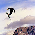A Freestyle Skier Takes A Jump In Utah by Robb Kendrick