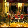 A French Cafe And Friends by Michael Swanson