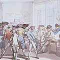 A French Coffee House by Thomas Rowlandson