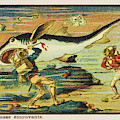 A Futuristic Shark Hunt On The Seabed by Mary Evans Picture Library