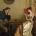 A Game Of Chess by George Goodwin Kilburne