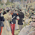 A Garden Party At The Elysee by Fortune Louis Meaulle