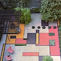 A Garden With Colourful Landscaping In Dr by Georges Braun