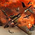 A German Heinkel Bomber Plane Blowing by Mark Stevenson