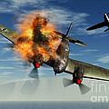 A German Heinkel Bomber Plane Crashing by Mark Stevenson