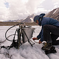 A Glaciologist Tinkers With A Steam by Dan Shugar