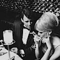 A Glamorous 1960s Couple Dining by Horn & Griner