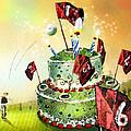 A Golfers Birthday Cake by Miki De Goodaboom