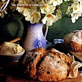 A Gourmet Cover Of Bread And Flowers by Romulo Yanes