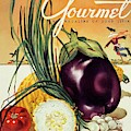 A Gourmet Cover Of Vegetables by Henry Stahlhut