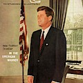A Gq Cover Of President John F. Kennedy by David Drew Zingg