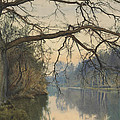 A Great Tree On A Riverbank by William Fraser Garden
