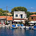 A Greek Island Harbor by Meirion Matthias