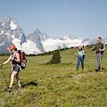 A Group Of Hikers In The Selkirk by Dan Shugar