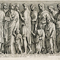 A Group Of Roman Citizens by Mary Evans Picture Library