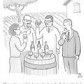 A Group Sample Wine At A Wine Tasting Vineyard by Paul Noth