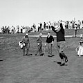 A Happy Golfer Celebrates by Underwood Archives