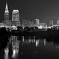 A Hazy Cleveland Night At Progressive Field by Clint Buhler