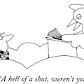 A Hell Of A Shot by Charles Barsotti