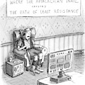A Hiker Is Seen Sitting In An Armchair Watching by Roz Chast
