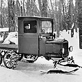 A Homemade Snowmobile by Underwood Archives