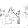 A Horse Speaks To A Cowboy Trying To Calm by Michael Maslin