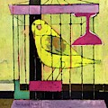 A House And Garden Cover Of A Bird In A Cage by Hans Moller