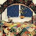 A House And Garden Cover Of A Four-poster Bed by Clayton Knight