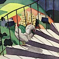 A House And Garden Cover Of A Rooster by Bradley Walker Tomlin