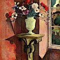 A House And Garden Cover Of A Vase Of Flowers by Bradley Walker Tomlin