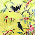 A House And Garden Cover Of Chickadees by Leah Ramsay