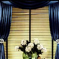 A House And Garden Cover Of Flowers By A Window by Anton Bruehl